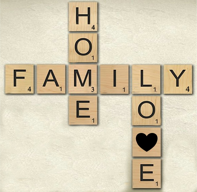 Large Scrabble Letters Wall Decor