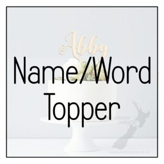 Name/Word Cake Toppers