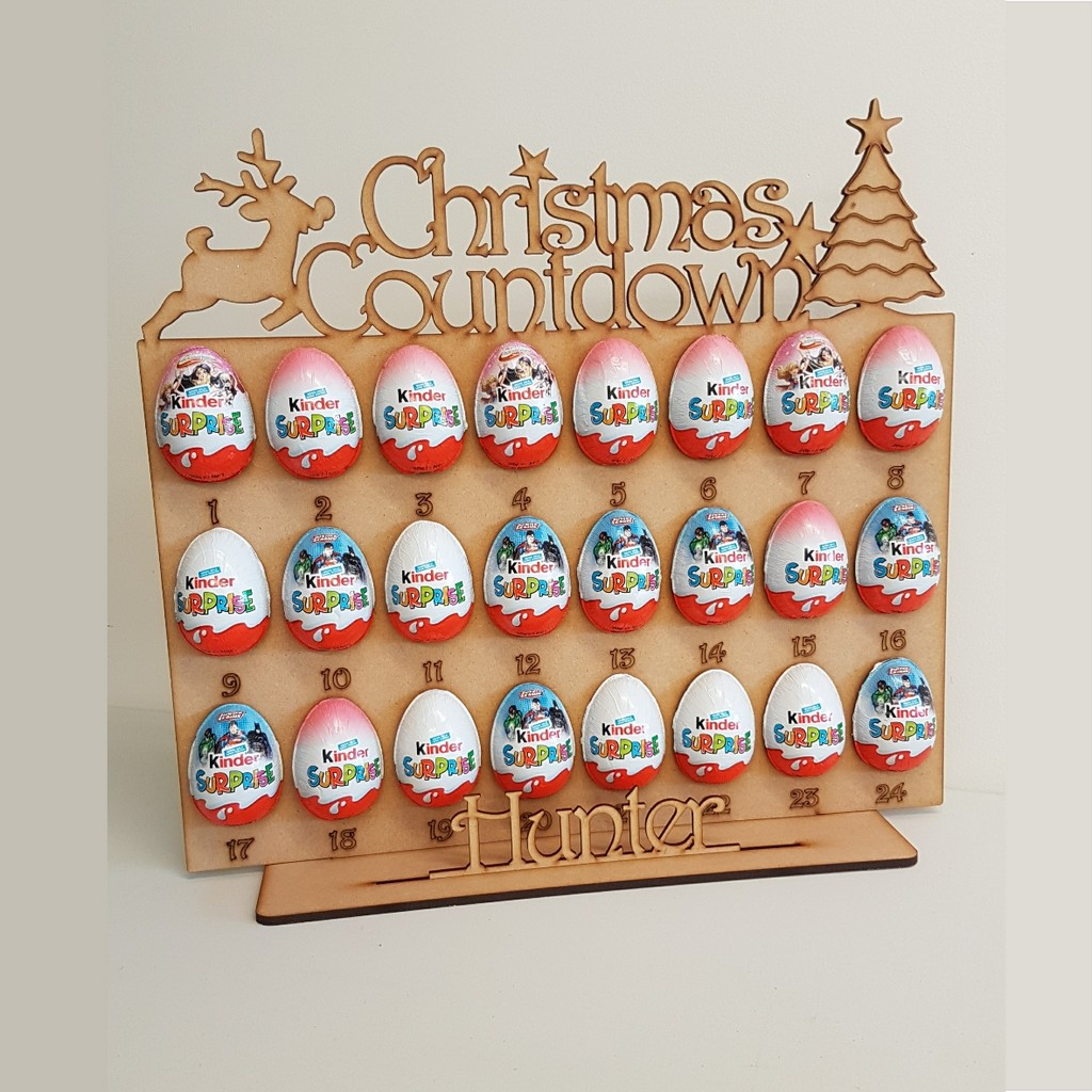 advent calendar kinder surprise holder add a name. Black Bedroom Furniture Sets. Home Design Ideas